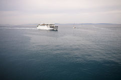 Ferry at sea Royalty Free Stock Image