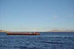 Ferry service on lake Titicaca Stock Photo