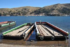 Ferry service on lake Titicaca Stock Images