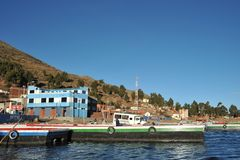 Ferry service on lake Titicaca Stock Image