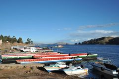 Ferry service on lake Titicaca Royalty Free Stock Image