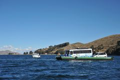 Ferry service on lake Titicaca Royalty Free Stock Photography