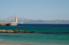 Ferry service between the Spanish coast and Morocco to Tarifa Stock Image