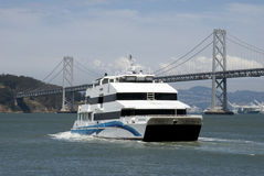Ferry with SF Bay Bridge Royalty Free Stock Images