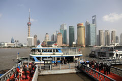 Ferry in Shanghai, China Stock Photo