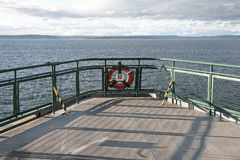 Ferry ship deck with life preserver Royalty Free Stock Photography