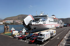 Ferry ship in Los Cristianos Stock Image