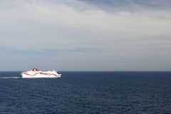 Ferry ship in open sea Stock Photos