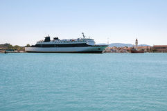 Ferry ship in the port of Zakynthos. Greece Stock Images