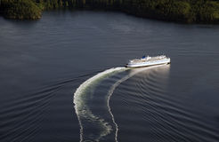 Ferry ship on the sea Stock Image