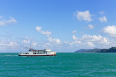 Ferry ship in the sea Stock Photography