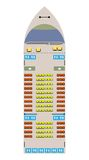 Ferry ship seat map. And illustration Stock Photography