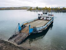 Ferry ship transport Royalty Free Stock Images