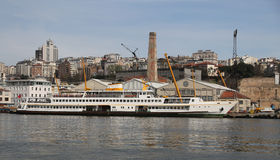 Ferry in Shipyard Stock Image