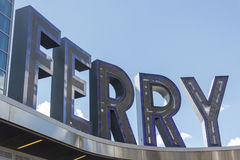 Ferry Sign Royalty Free Stock Photography