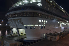 The ferry Silja EUROPA is moored a Royalty Free Stock Images