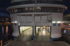 The ferry Silja EUROPA is moored a Stock Photo