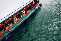 Ferry in Singapore river Stock Photo