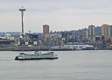 Ferry and Space Needle Stock Photos