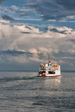 Ferry on St.Lawrence river Royalty Free Stock Image