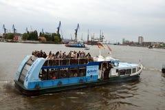 Ferry at St. Pauli Piers Stock Photos