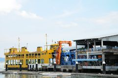 Ferry station. It is a wide shot of ferry station in penang Royalty Free Stock Images