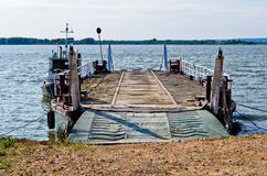 Ferry station at river Danube near old turkish fortress Ram Royalty Free Stock Image