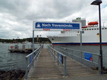 Ferry stop for Travemuende. Luebeck-Travemuende, Germany 2014 Stock Photos