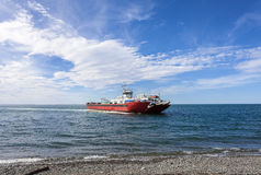 Ferry on the Strait of Magellan. Royalty Free Stock Image