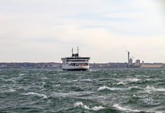The ferry in the Strait of Oresund Stock Photo