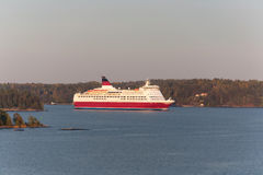 Ferry in Sweden islands Stock Image