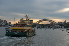 Ferry in Sydney harbor. Royalty Free Stock Photography
