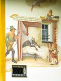 Ferry tale painted on a house wall Royalty Free Stock Image