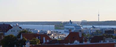 Ferry in the Tallinn port Stock Image