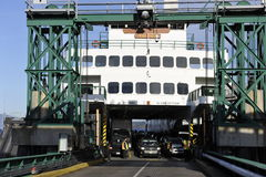 Ferry at the Terminal Stock Photo