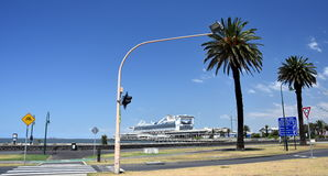 Ferry terminal building in Port Melbourne. Royalty Free Stock Images