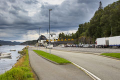 Ferry Terminal in Fana outside Bergen Royalty Free Stock Photography