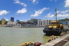 Ferry terminal in macau. Under the blue sky of macau ferry terminal Royalty Free Stock Photo