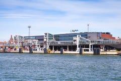 Ferry terminal in passenger port of Helsinki Stock Photography