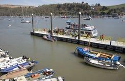 Ferry terminal on River Dart Devon UK Stock Images