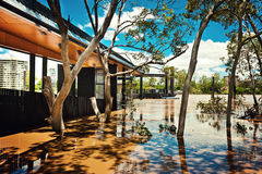 Ferry terminal at West End, Brisbane Stock Photo