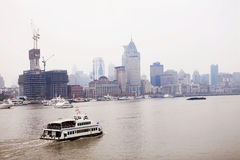 Ferry in th Bund,Shanghai Stock Photo