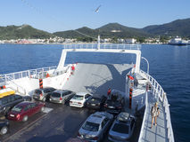 Ferry from Thassos to Keramoti, Greece Royalty Free Stock Image