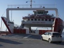 Ferry from Thassos to Keramoti, Greece Royalty Free Stock Photo