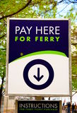 Ferry Tickets Sign Royalty Free Stock Images