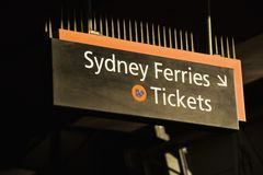 Ferry tickets, Sydney Australia. Stock Photos