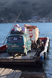 Ferry at Tiquina on Lake Titicaca, Bolivia Stock Photography