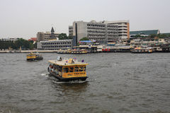 Ferry to across Chao phraya river Stock Image
