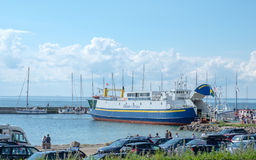Ferry to Baltic sea island Oland in Sweden Royalty Free Stock Photo