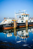 The ferry to Egholm, Aalborg portrait Royalty Free Stock Images